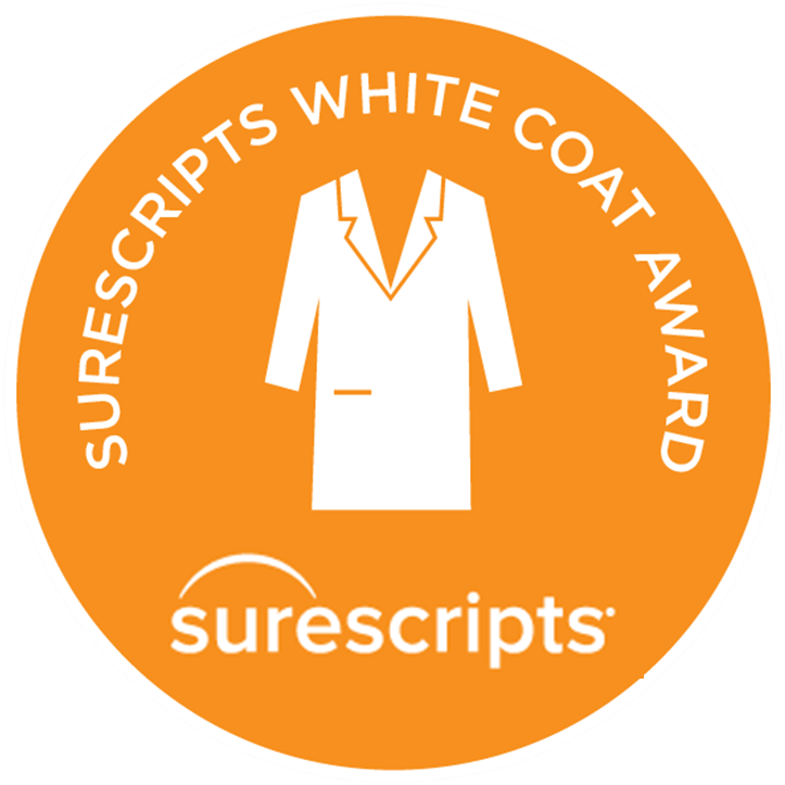 5 Time Winner of White Coat Award by Surescripts